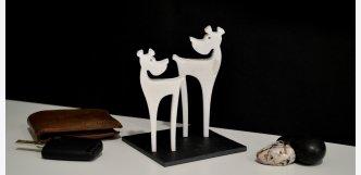 Dekorace z mramoru tip na vánoční dárek