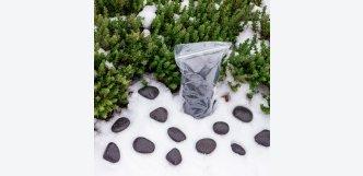 Dekorační kameny - černé valounky Black