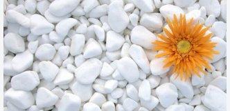 Mramor bílý valounky